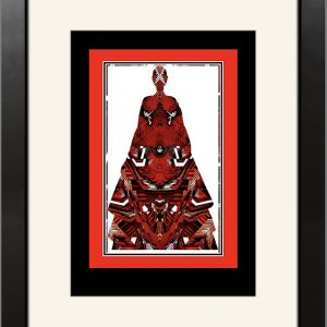 Red Aztec Lady | Framed Art Print