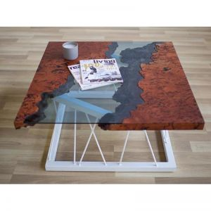 Red Gum Burl Coffee Table