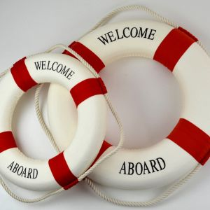 Red Lifebuoy Rings | 35cm