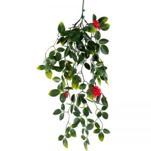 Red Mixed Hanging Foliage | UV Resistant | 60cm