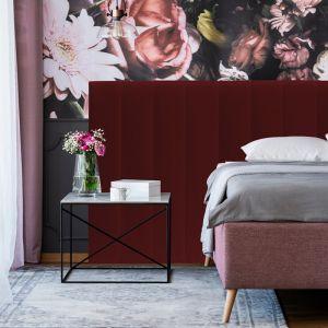 Red Red Wine Velvet Narrow Panelled Upholstered Bedhead | All Sizes | Custom Made by Martini Furnitu