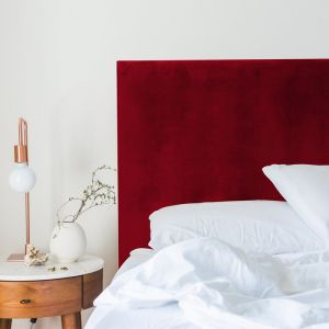 Red Red Wine Velvet Plain Upholstered Bedhead | All Sizes | Custom Made by Martini Furniture