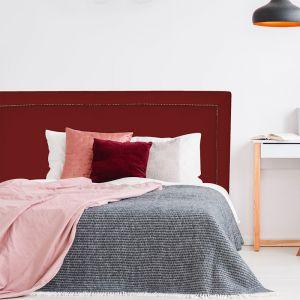 Red Red Wine Velvet Studded Upholstered Bedhead | All Sizes | Custom Made by Martini Furniture