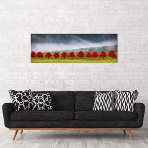 Red Row Of Trees | Scott Leggo | Canvas Print