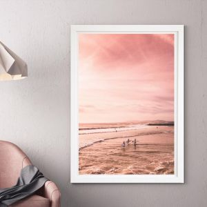 Red Sky At Night   Framed Art by Beach Lane
