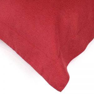 Red Stonewash | Linen Pillowcases | Various Sizes