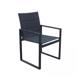 Redcliffe Aluminium Outdoor Dining Chair | Charcoal