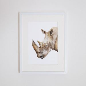 Reg the Rhino Giclee Print | by For Me By Dee
