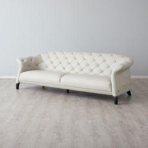 Regal 3 Seater Sofa | Leather | Cream
