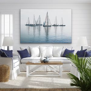 Regatta | Sailing Yacht Race | Art Print Photograph On Stretched Canvas