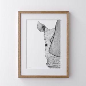 Reggie the Rhino   Print