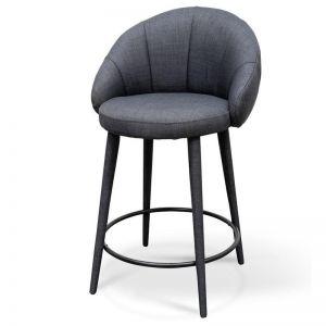 Reid Fabric Bar Stool   Slate Grey   65cm