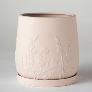 Relief Plant Pot Blush