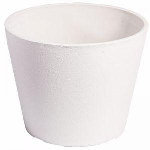 Rendered White Planter Pot | 25cm