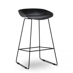Replica Hay Sled Barstool | All Black | Set of 2