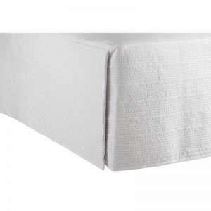 Resort Double Quilted Valance | White