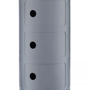 Retro-Style Storage Drawer | Silver