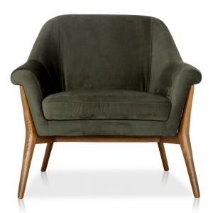Rex Velvet Armchair | Forest Green | freedom