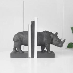 Rhino Bookends | Black