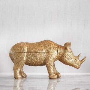 Rhino Secret Bowl | Gold