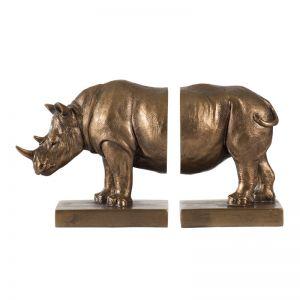 Rhinoceros Bookends   Set of 2