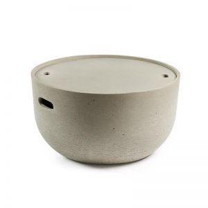 Rhone Concrete Patio Coffee Table | CLU Living
