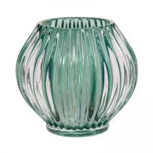 Ridged Tea light holder | Emerald