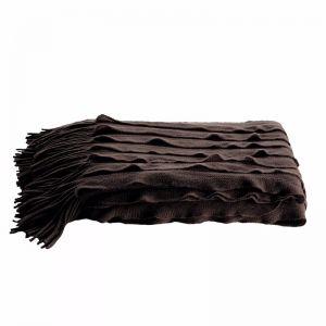 Ripple Throw by Kas Australia | Charcoal