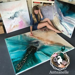 Rise Above | Original Canvas Artwork with Abalone Shells | Commission | By Antuanelle