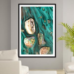 Rise Above Tide 3 Coastal Shells Artwork   ACRYLIC Limited Edition Print   by Antuanelle
