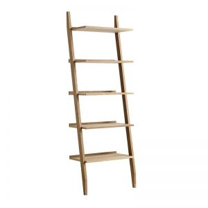 Riva Leaning Bookcase | Natural Oak