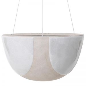 Riverstone Hanging Planter Large by Angus & Celeste | White Half Moon