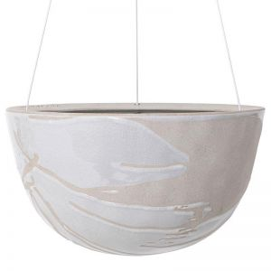 Riverstone Hanging Planter Large by Angus & Celeste | White Splash