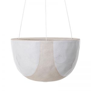 Riverstone Hanging Planter Small by Angus & Celeste | White Half Moon