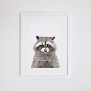 Rocco the Raccoon | Giclee Print | by For Me By Dee