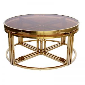Rochdale Nested Coffee Table | Gold