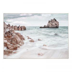 Rocky Beach | Caramel Box Frame | Front View