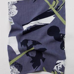 Rocky Road Tea Towel in Navy or Peach | by Capra Designs