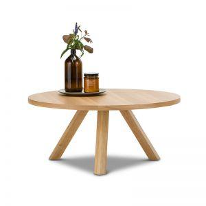 Roi Round Coffee Table | Light Oak