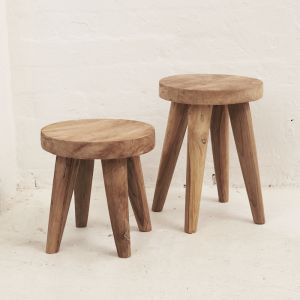 Rokha Four Leg Stool | Small l Pre Order