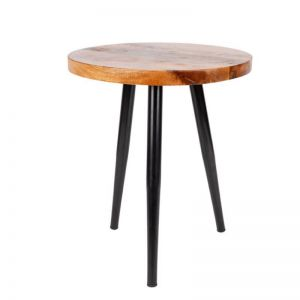 Roma Wooden Round Side Table