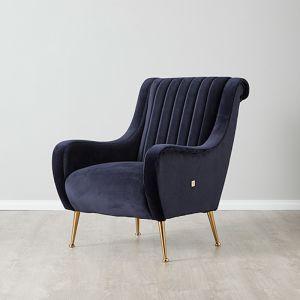 Roosevelt Chair   Velvet   Navy