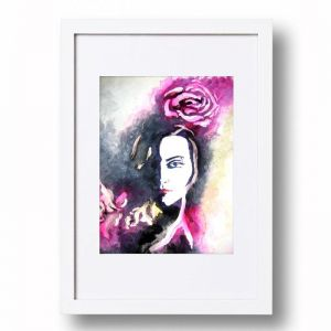 Rose Portrait #2 Signed Artist's Print