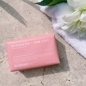 Rosewater + Pink Clay Cleansing Body Bar | 200g