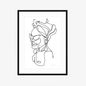 Rosie | Limited Edition Fine Art Print | One Line by PHOLIO
