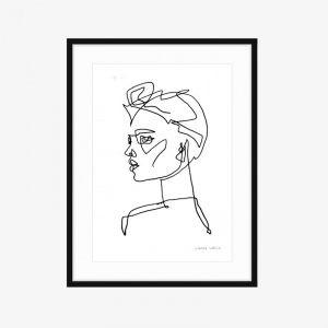 Rosie's Cousin | Fine Art Print | One Line by PHOLIO