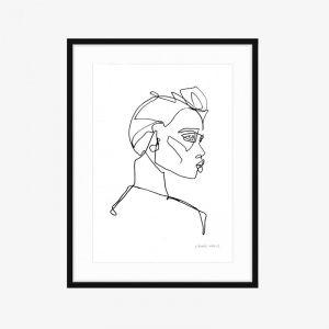 Rosie's Sister | Fine Art Print | One Line by PHOLIO