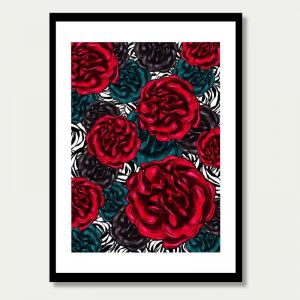 Rouge Roses de Sept | Unframed Fine Art Print