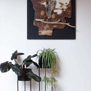 Round Black Metallic High Planter by SATARA