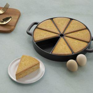 Round Cast Iron Baking Wedge Pan | 8-Slice